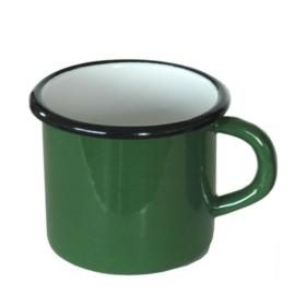 Emaille mok, 8 cm, groen