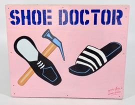 """Uithangbord 50 x 40 cm, 'Shoe doctor"""""""