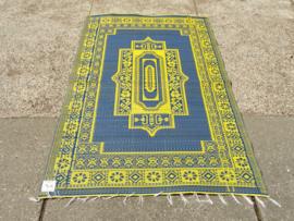 Plastic vloerkleed 120 x 180 cm,  Afrika, blauw/geel