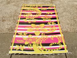 Plastic vloerkleed 120 x 180 cm,  Afrika,  geel/roze/zwart/wit