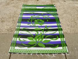 Plastic vloerkleed 120 x 180 cm,  Afrika,  groen/paars/zwart/wit