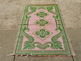 Plastic vloerkleed 120 x 180 cm,  Afrika,  roze/groen