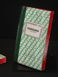 4 African singing notebook, groen