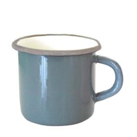 Emaille mok, 8 cm, grijs