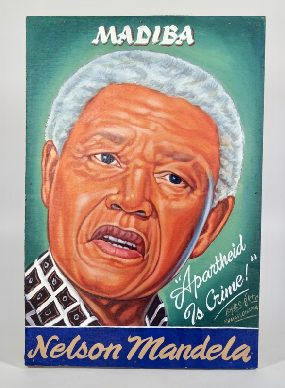 Uithangbord /schilderij 60 x 40 cm, 'Nelson Mandela'