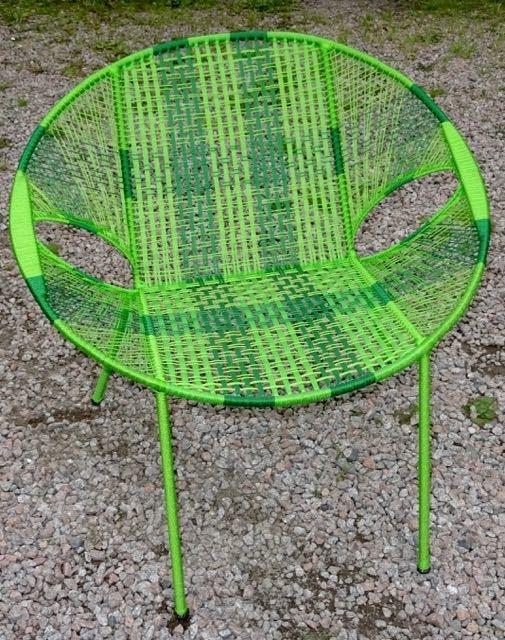 Owusu chair nr. 8 Ghanese kuipstoel Groen/donker groen