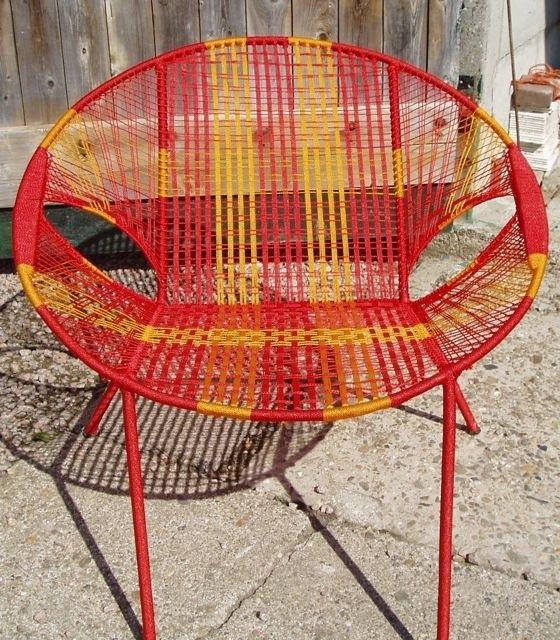 Owusu chair nr. 41 Ghanese kuipstoel Rood/oranje
