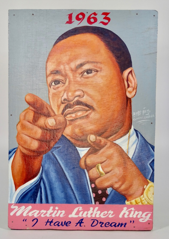 Uithangbord /schilderij 60 x 40 cm, 'Martin Luther King'