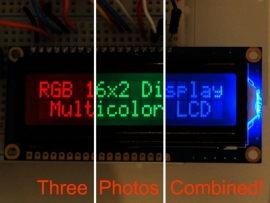 RGB backlight negative LCD 16x2 + extras