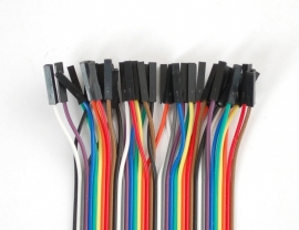 """Premium Female/Female Jumper Wires - 40 x 12"""" (300mm)"""