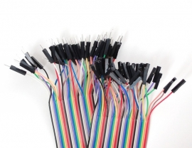 "Premium Female/Male `Extension` Jumper Wires - 40 x 12"" (300mm)"