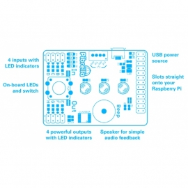 PiBrella - LED, Buzzer, I/O Driver Add-On Board