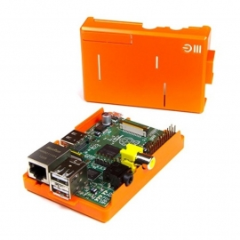 Raspberry Pi Model B + ModMyPi Case Royal Dutch Orange