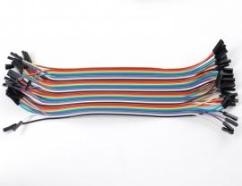 """Premium Female/Female Jumper Wires - 40 x 6"""" (150mm)"""