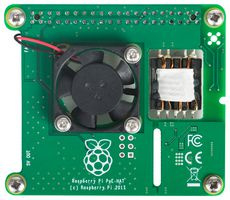 Add-On Board, Power over Ethernet (PoE) HAT for Raspberry Pi 3 Model B+