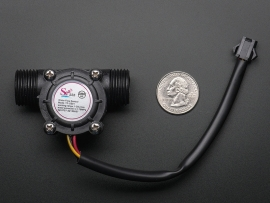 """Liquid Flow Meter - Plastic 1/2"""" NPS Threaded"""