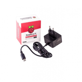 Raspberry Pi USB-C Power Supply - 5.1V 3A - Black