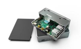 Flirc - Raspberry Pi 4 Case - Aluminium-Black