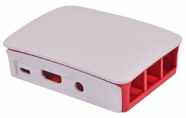Official Raspberry Pi 3 Model B, 2 B, B+ Development Board Case, Red, White