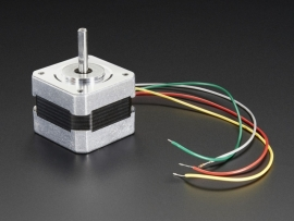 Stepper motor - NEMA-17 size - 200 steps/rev, 12V 350mA