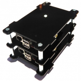 Multi-Pi Stackable Raspberry Pi Case (Black)