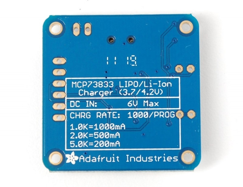 MCP73833 USB Lithium Ion Battery Charger 5V Chraging LiIon LiPoly 3.7//4.2V Board