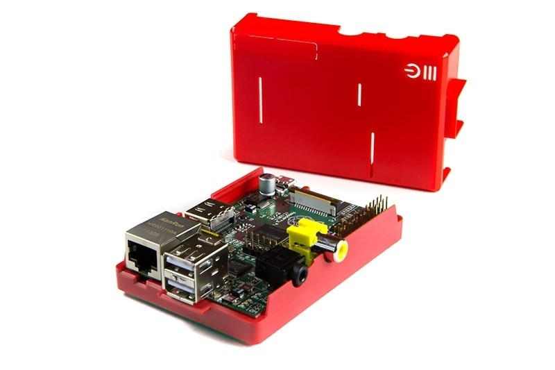Raspberry Pi Model B + ModMyPi Case Red