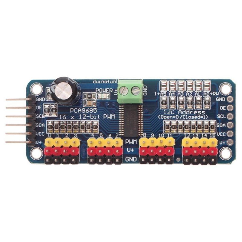 12-Bit PWM PCA9685 16 Channel  Servo Motor Driver IIC Module