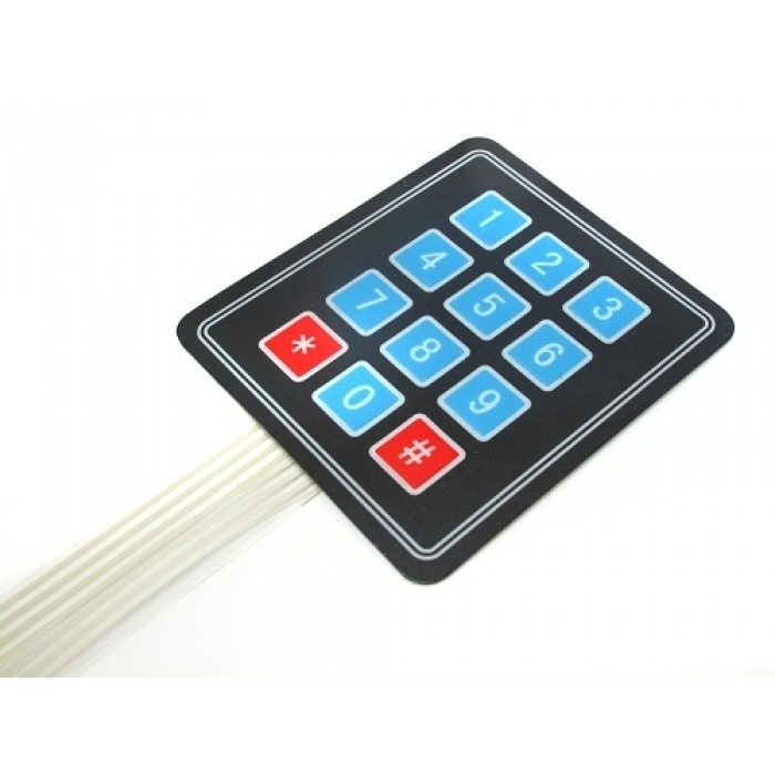 Membrane Matrix Keypad + extras - 3x4 | Buttons & Switches