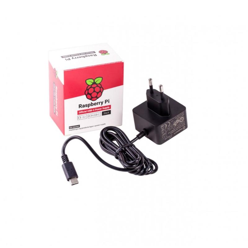 Raspberry Pi USB-C Power Supply - 5.1V 3A - Black