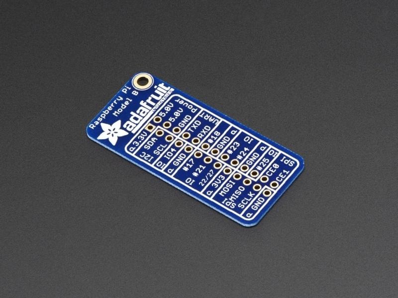 Adafruit GPIO Reference Card for Raspberry Pi Model B