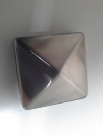 Paalornament 7,0 x 7,0 RVS