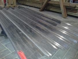 Polycarbonaat golfplaat 122x110 cm  enkelwandig