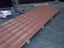 Dakpanplaat HPS 185x110cm rood