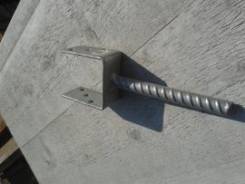 Paalhouder voor in beton