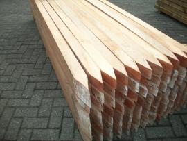 hardhouten paal 6,0 x 6,0 x 300 cm