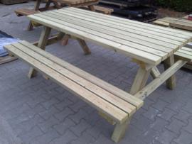 Picknickbanken 45 mm dik 160cm scandinavisch grenen
