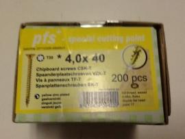 Schroeven 4,0 x 40 geel verzinkt