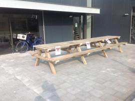 Picknickbank 500 cm. Scandinavisch grenen
