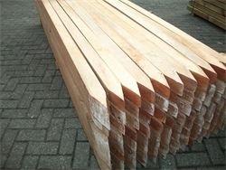 Hardhouten palen 6,0 x 6,0 x 275 cm