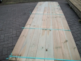 Tuinplank 16  x 14,0 x 500 cm.