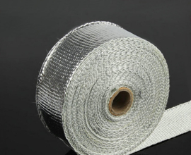 Exhaust and Header Wrap, Aluminium, 2 in. Wide x 50 ft., Each