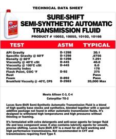 Lucas ATF sure shift oil. 1 liter verpakking
