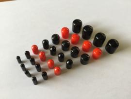 Afstop plugs vacuum zwart/rood