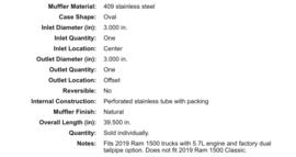 Dodge pick-up 2019 flowmaster flowFX