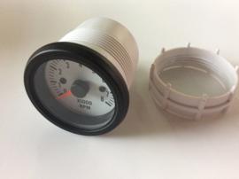 Performance Instrument Wit Toerenteller >8000rpm 2/3/4/5/6/8 cil. 52mm