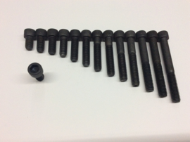 3/8-16 bouten inbus zwart div. Lengte