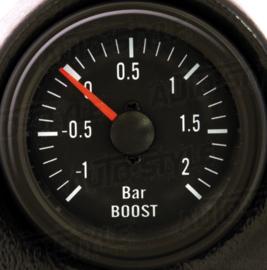 Performance Instrument Zwart Turbodruk +2,0>1 bar 52mm