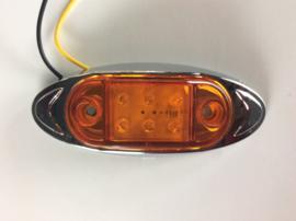 6 led zijmarkering lamp orange