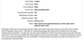 Distributie deksel zwart met pakkingen